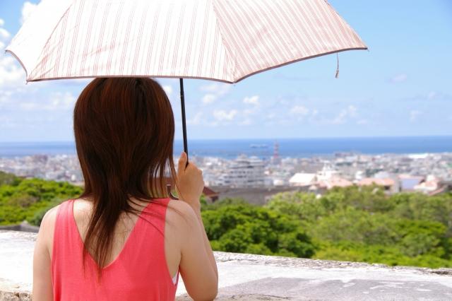 日傘で日焼け防止